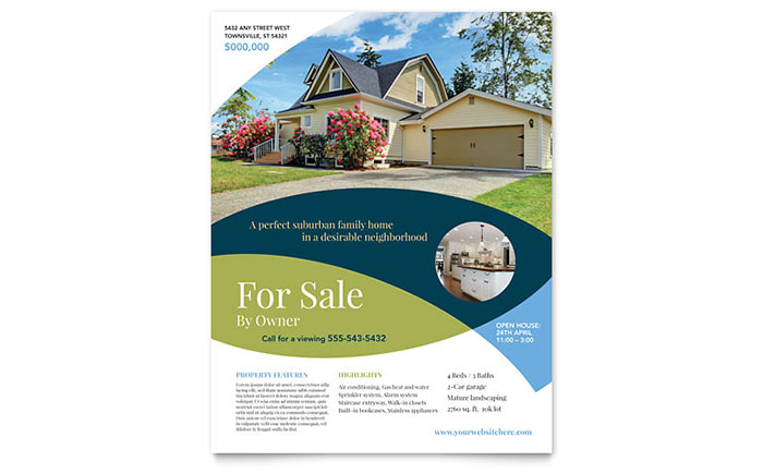 Home For Sale Brochure Inspiration For Saleowner Flyer Template Design