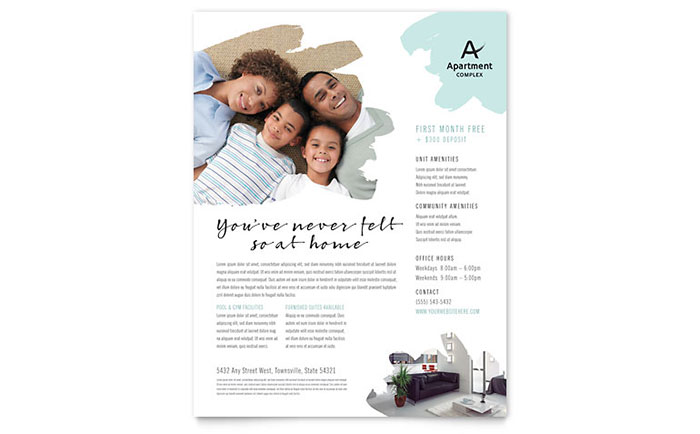 Apartment Flyer Template Design