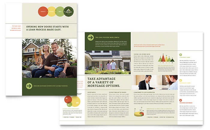 Mortgage broker brochure template design for Free mortgage flyer templates