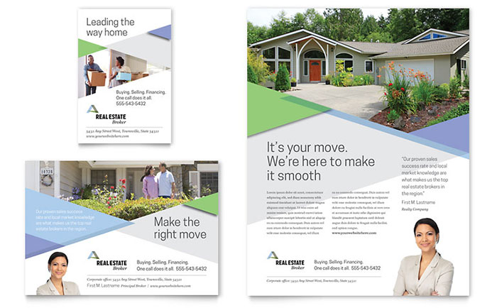 Real Estate Print Ads Templates Design Examples - Real estate advertisement template