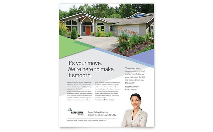 Realtor Flyer Template Design Download - InDesign, Illustrator, Word, Publisher, Pages