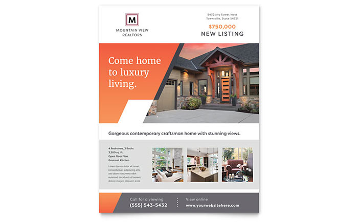 Real Estate Agent Flyers | Templates & Graphic Designs