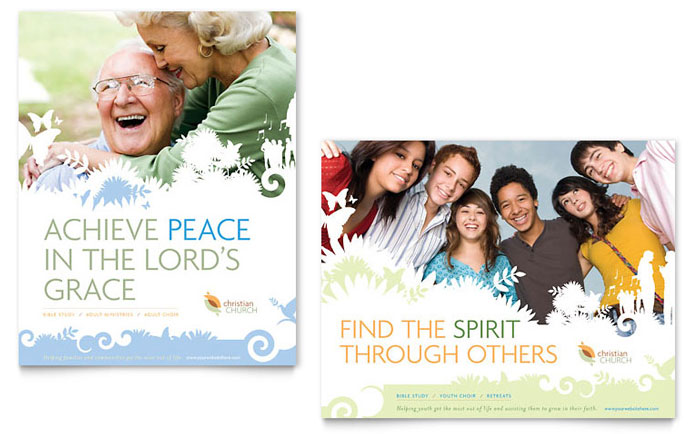 Christian Church Poster Template Design Download - InDesign, Illustrator, Word, Publisher, Pages