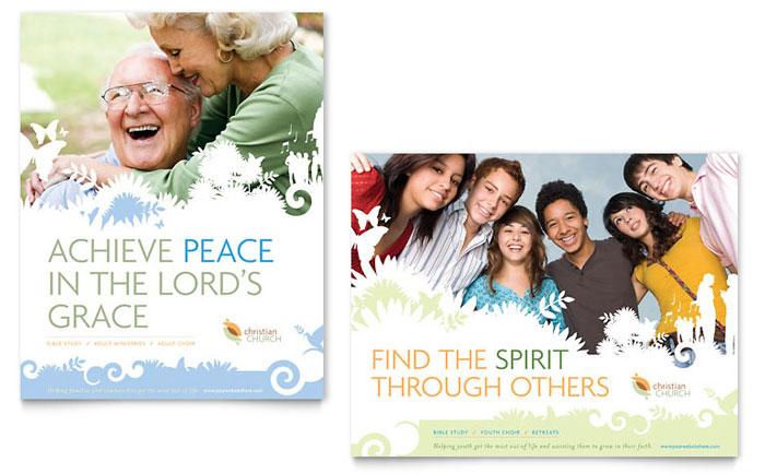 christian church poster template design
