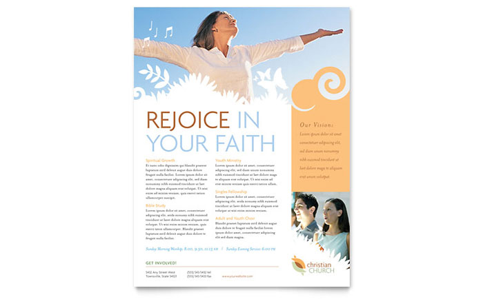 Religious Organizations Flyers Templates Design Examples