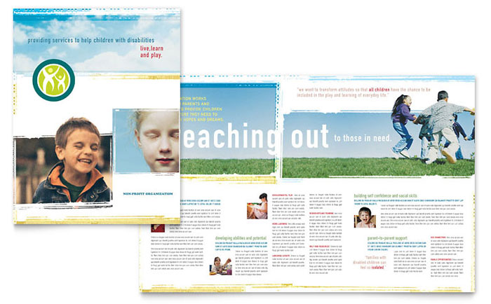 Special education brochure template design for Educational brochure templates