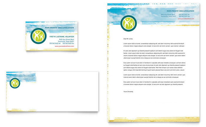 Special Education Business Card Letterhead Template Design