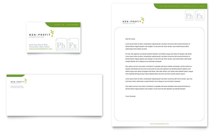 Environmental & Agricultural Non Profit Business Card & Letterhead Template Design Download - InDesign, Illustrator, Word, Publisher, Pages