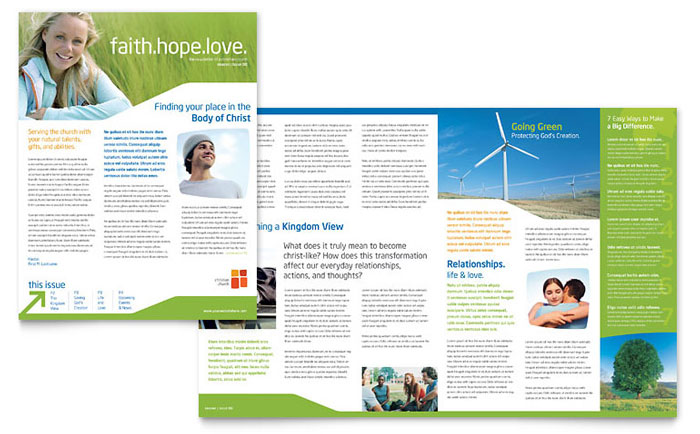 one page brochure template word - church youth ministry newsletter template design