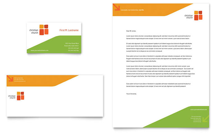 Church Youth Ministry Business Card  Letterhead Template Design