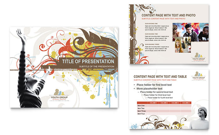Church Youth Group PowerPoint Presentation Template Design