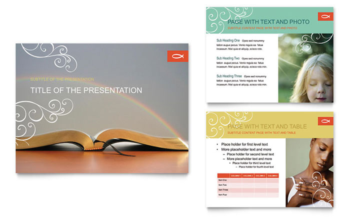 Christian Church Religious Powerpoint Presentation Template Design