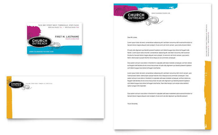 Church outreach ministries business card letterhead template design spiritdancerdesigns Choice Image