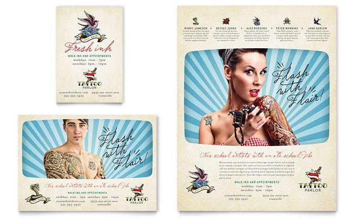 Body Art Tattoo Artist Flyer Ad Template Design