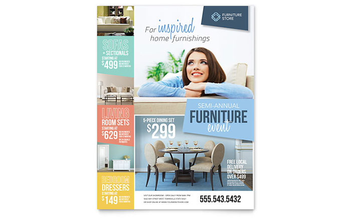 retail sales flyers templates design examples