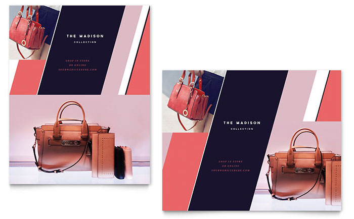 designer handbag sale poster template design