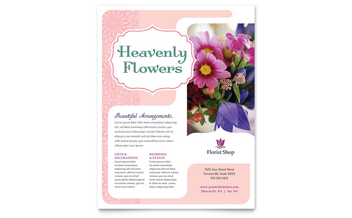 Florist Flyer Template Design