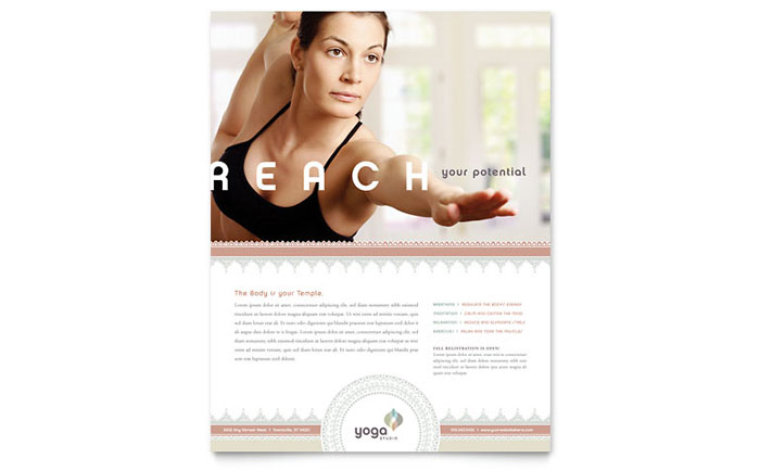 Pilates  Yoga Flyer Template Design