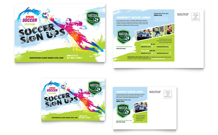 Youth Soccer Flyer Template Design