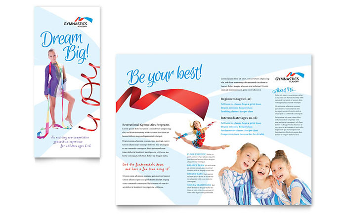 Gymnastics Academy - Brochure Design Example