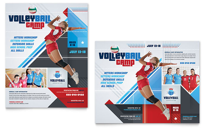 sports fitness posters templates design examples