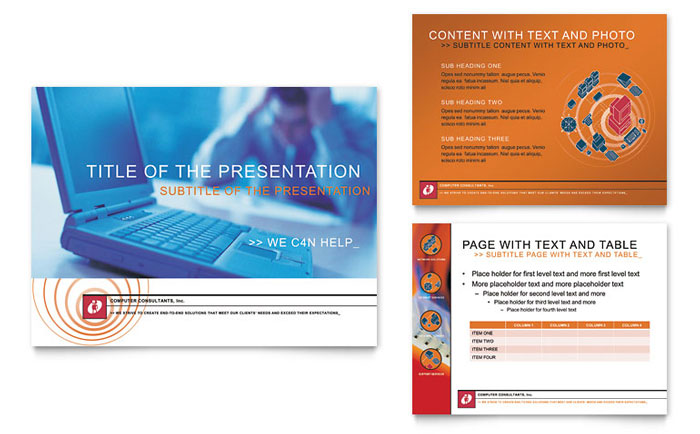Computer Consulting PowerPoint Presentation Template Design