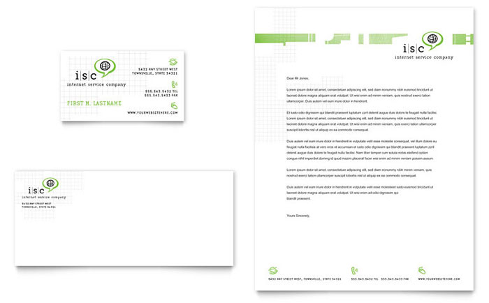Isp Internet Service Business Card Amp Letterhead Template