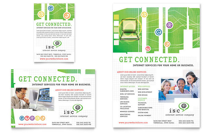 isp internet service flyer  u0026 ad template design