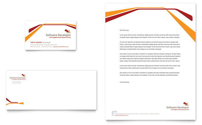 technology letterheads templates design examples