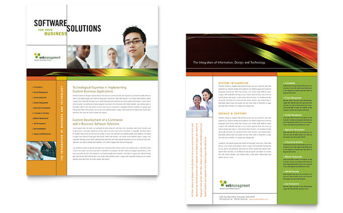 Internet Software Datasheet Template Design