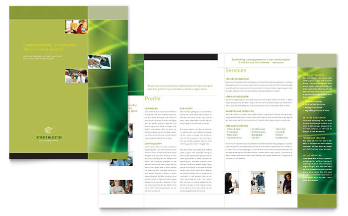 Internet Marketing Brochure Template Design - Marketing brochures templates