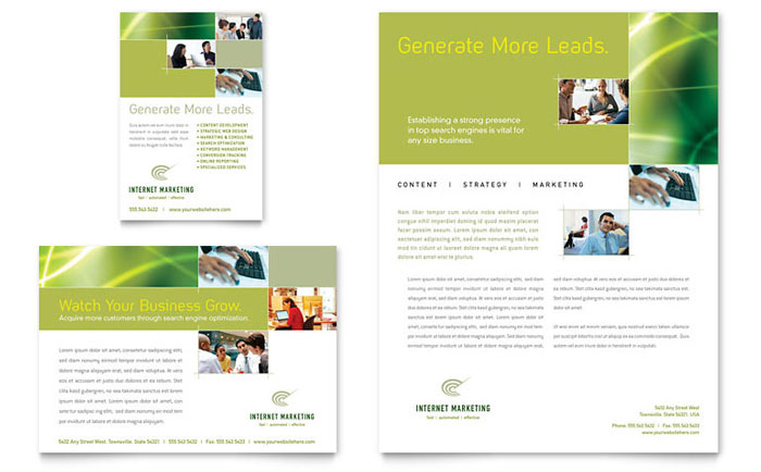 internet marketing flyer ad template design