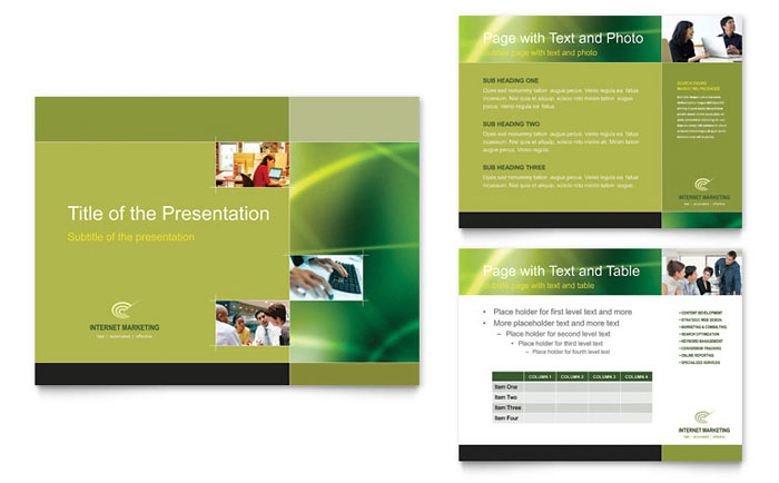 Internet Marketing PowerPoint Presentation Template Design