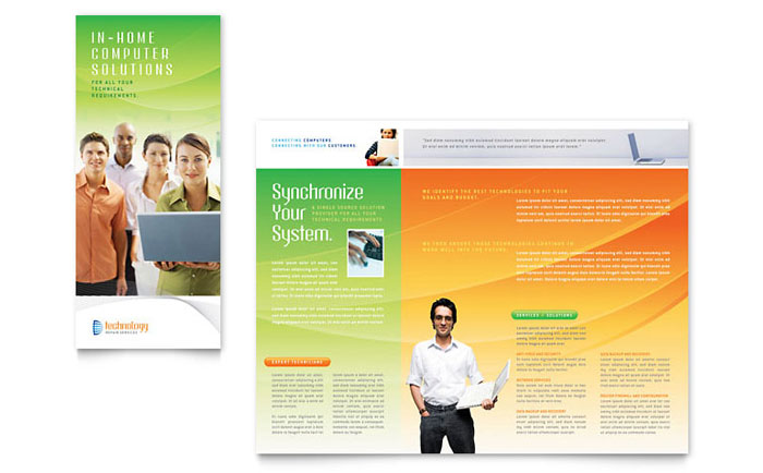 Computer & IT Services Brochure Template Design Download - InDesign, Illustrator, Word, Publisher, Pages