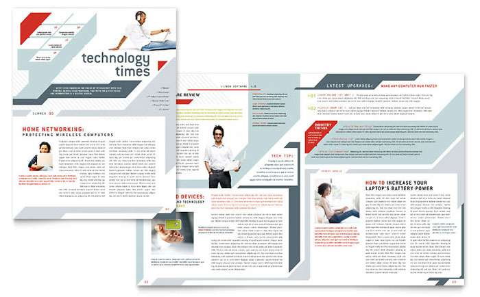 technology newsletters templates design examples