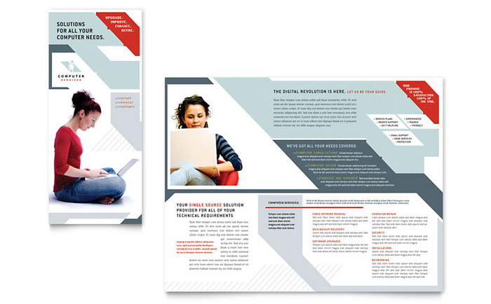 Computer Solutions Tri Fold Brochure Amazing Ideas