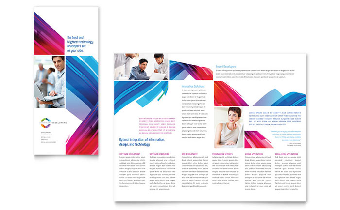 software for designing brochures software solutions tri fold brochure template design