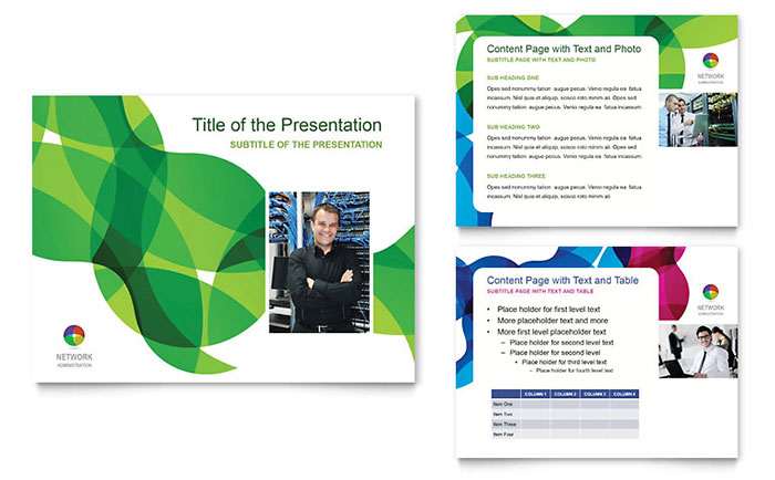 Network administration powerpoint presentation template design toneelgroepblik