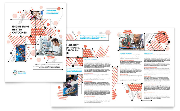 Computer Engineering Brochure Template Design - Download brochure template word