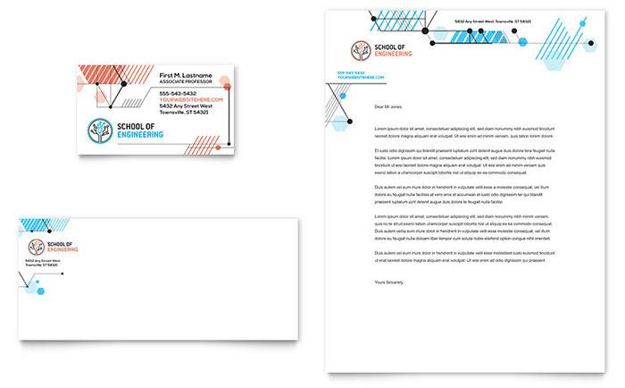 Computer Engineering Business Card & Letterhead Template Design Download - InDesign, Illustrator, Word, Publisher, Pages