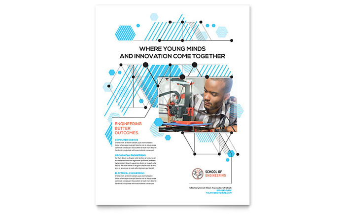 computer engineering flyer template design