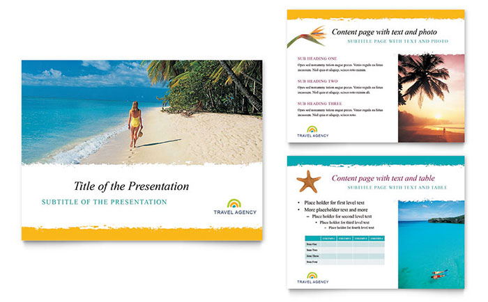 Travel Agency PowerPoint Presentation Template Design