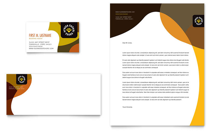 Business cards and letterhead designs image collections card african safari business card letterhead template design reheart image collections spiritdancerdesigns Choice Image