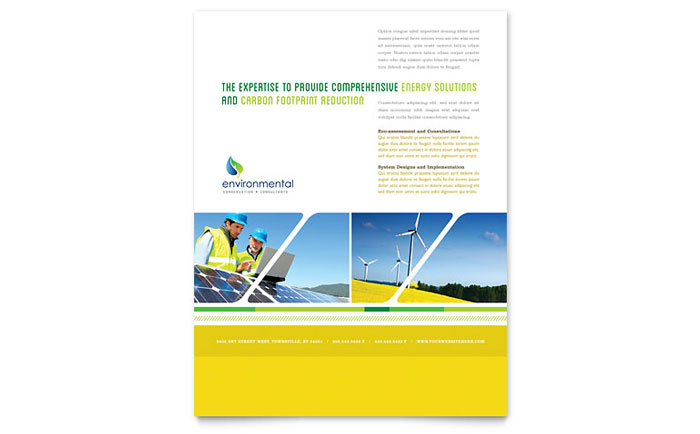 Environmental Conservation Flyer Template Design - InDesign, Illustrator, Word, Publisher, Pages