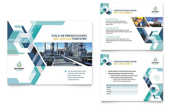 Oil & Gas Company PowerPoint Presentation Template Design