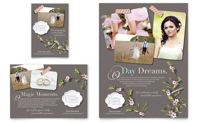 Wedding Planner Flyer  Ad Template Design