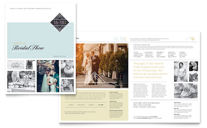Wedding Event Marketing Brochures Flyers Postcards - Marketing brochures templates