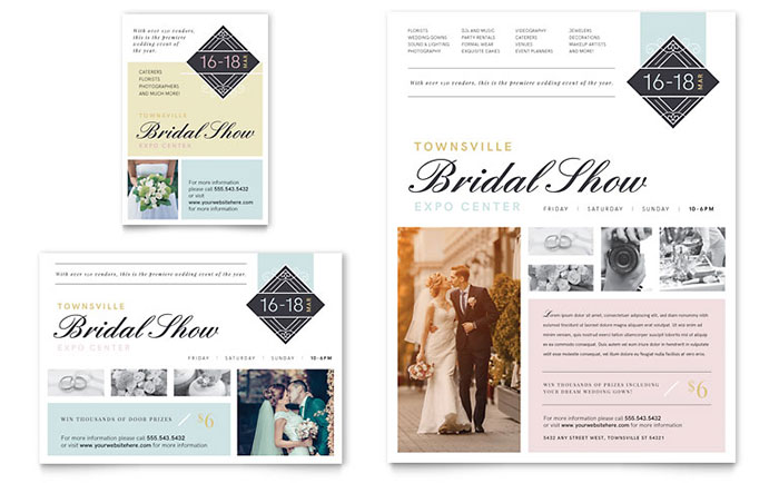 Bridal Show Flyer & Ad Template Design Download - InDesign, Illustrator, Word, Publisher, Pages