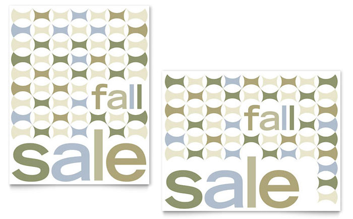 Geometric Fall Color Sale Poster Template Download - InDesign, Illustrator, Word, Publisher, Pages