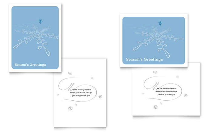 ice skating greeting card template design